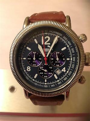 Vintage Rare Black Chronograph Face Heavy Duty Large Round Timberlake Puma Watch