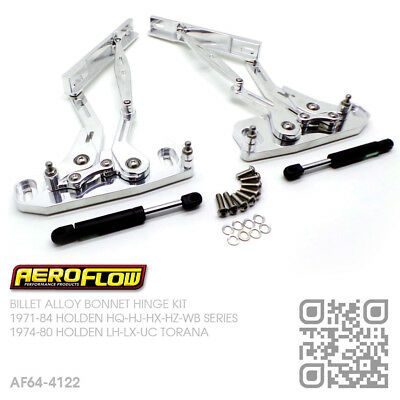 Billet Polished Alloy Bonnet Hinges [Holden Lh-Lx-Uc Torana Slr5000/l34/a9X]