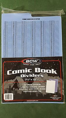 25 Quality BCW RED Comic Book Dividers Archival Acid Free w// Write on Index Tab