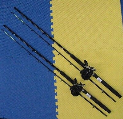 """Okuma 8'6""""  Line Counter Trolling Combo Chartreuse Tip 2 Pack CPDR86CT/MA30D"""