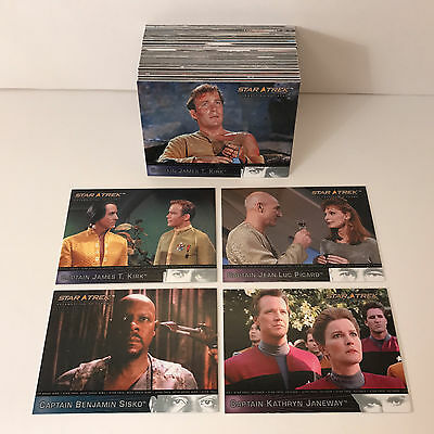 STAR TREK: CELEBRATING 40 YEARS Complete Card Set w/ TOS, TNG & ALL SPINOFFS