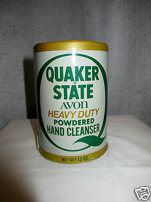 """Avon Quaker State Powdered Hand Cleanser """"Can"""" Empty"""