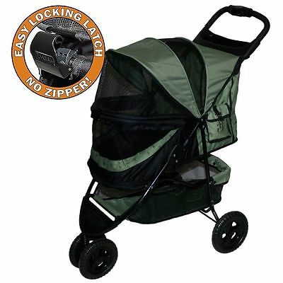 Dog Cat Pet Gear Stroller Special Edition NO-ZIP Sage Green NEW!
