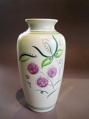 Hand painted Poole Studio Pottery Vase.