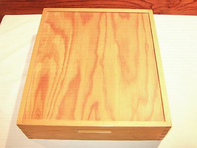 Wood Storage Box With Mirror and 9 Compartments.