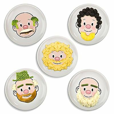 Fred and Friends FOOD FACE Kids Dinner Plate