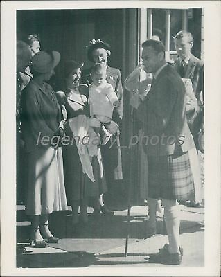 1949 Prince Charles Visits Scotland with Family Original News Service Photo