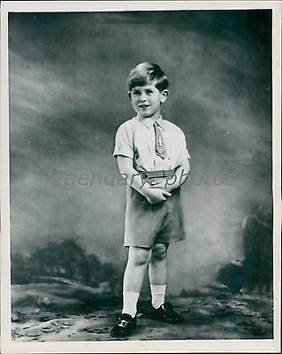 1953 Portrait of Prince Charles at 5 Years Original News Service Photo