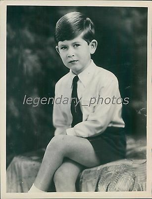 1954 Portrait of Prince Charles at 6 Years Original News Service Photo