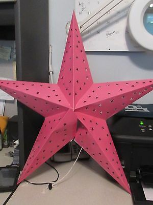 12 Asian Chinese Pink Star Paper Lantern Lamp Shades (1 Dzn)