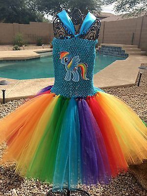 Rainbow Dash Tutu Dress Size Newborn to 5T