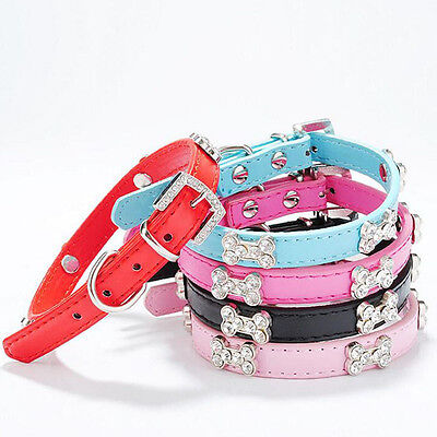 Rhinestone Bling Pet Dog Collar Neck Adjustable Puppy Cat Collar Pets Collars