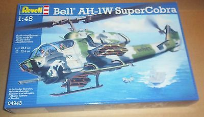 Revell Bell Ah-1W Super Cobra 1:48 Scale Model Kit Attack Helicopter Us Marines