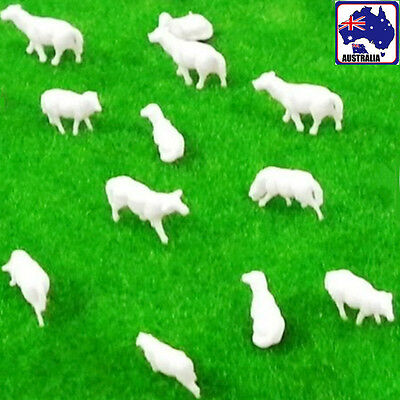 20pcs Scale 1:87 Unpainted White Sheep Model Train Figurine Layout GMOD 02185x20