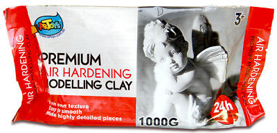 1KG White Premium Air Hardening Modeling Clay AIR DRY CLAY Craft Art Supply
