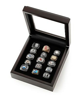Championship Ring Display Case Box For 7-12 Rings - Free Shipping