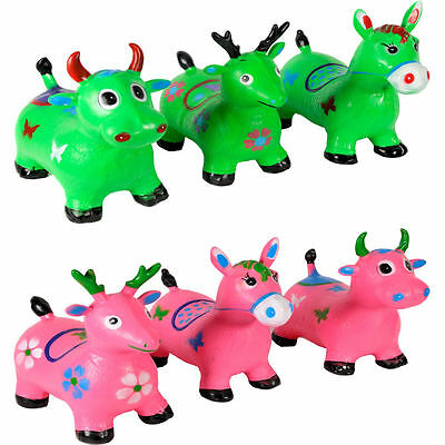 Kids Adult Animal Space Hopper Inflatable Horse Ride-On Bouncy Retro Happy New