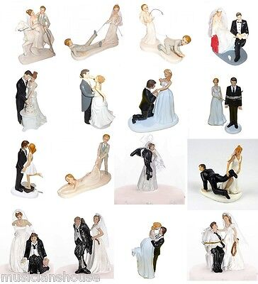 Wedding Cake Toppers Decoration Bride Groom Gift Present Novelty Funny Party Fun