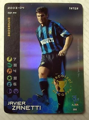 Cards Game Football Champions Carte Inter Javier Zanetti 2003/04 New!!