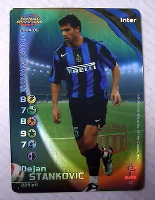 Cards Game Football Champions Carte Inter Dejan Stankovic 2004/05 New!!