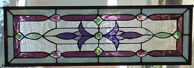 Stained Glass Window Hanging 26 1/2 X 8 5/8""