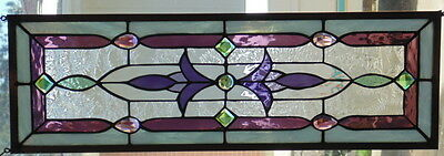 """Stained Glass Window Hanging 26 1/2 X 8 5/8"""""""