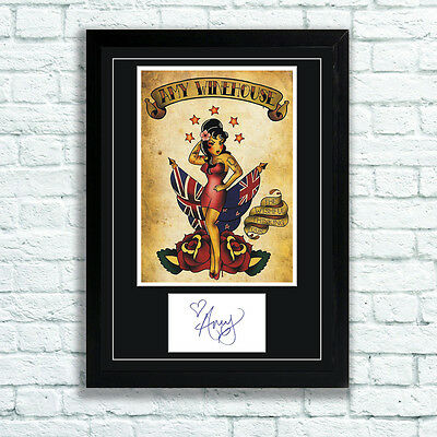 Amy Winehouse Memorabilia Repro Autograph and Poster - Back to Black - Rehab