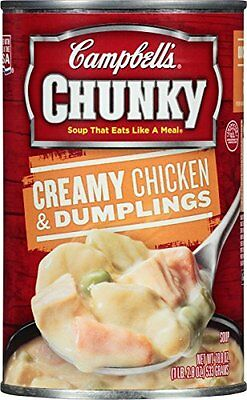 Campbells Chunky Creamy Chicken & Dumplings Soup, 18.8 Ounce Pack of 12