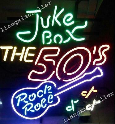 "19""X15"" Juke Box Rock Roll Back To The 50'S  Beer Bar NEON LIGHT SIGN Free Ship"