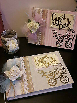 Beautiful 'Vintage Chic' inspired Baby Shower guest book