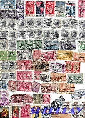 Mixed HUGE LOT of 292 US USA Postage Stamp Stamps USED