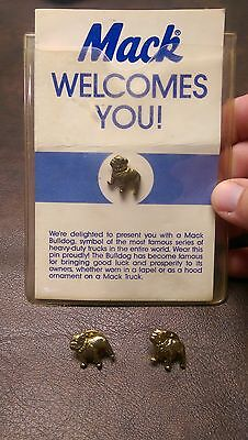 Mack Truck Bulldog Pin Brass Pinback Lapel Hat Tie Tack Purse Brooch Vintage