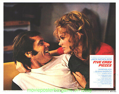 FIVE EASY PIECES LOBBY CARD size MOVIE POSTER Card #8 Mint R1973 JACK NICHOLSON