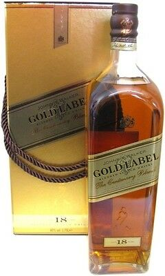 Johnnie Walker Gold Label 18 Centenary Blend Scotch Whisky LARGE 1.75L RARE