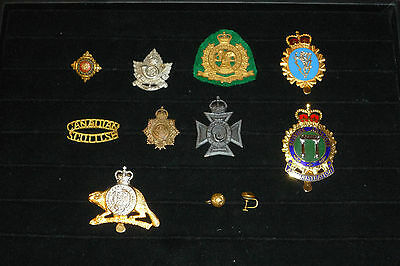 Rare Lot of Auth. Canadian Millitary Badges WWII - Modern & Sweetheart Earrings