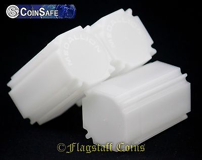5 CoinSafe Square Coin Storage Tubes - Five Medallion/Silver/Copper Rounds 39mm