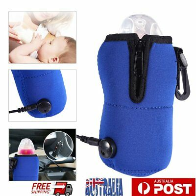 12V Food Milk Water Drink Bottle Cup Warmer Heater Car Auto Travel Baby AU
