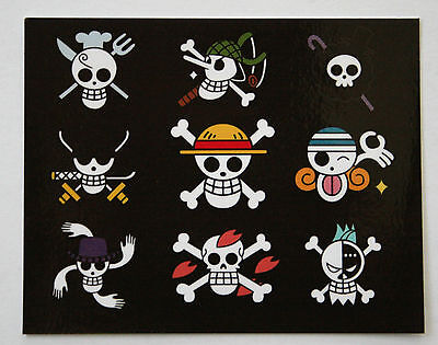 One Piece Pirate Flags Sticker PVC Photo Paper Japanese Anime