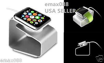 Aluminium Charging Dock Station Charger Holder Stand Fr Apple Watch iWatch new