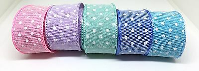 1M X 22mm Fabric Ribbon Craft DIY Cake Decoration Hair Bows 5 Colours To Choose