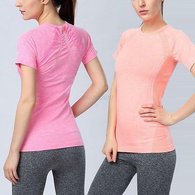 Women Dry Quick Sports Shirt Breathable Tops Fitness Gym Yoga Running T-shirt