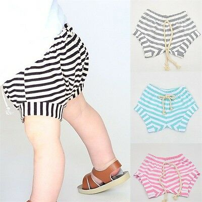 Kids Shorts Toddler Baby Striped Bloomer Pants Infant Trousers Knickers 6M-4Y SL
