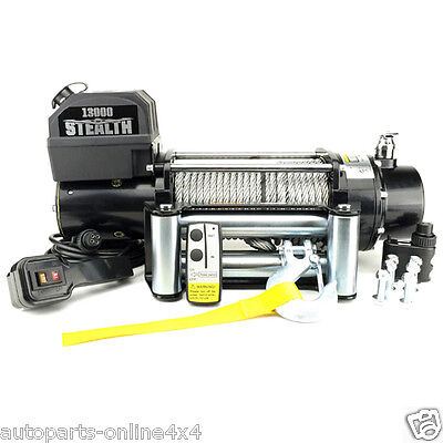 Stealth  13000lb Wireless 12v Electric Recovery 4x4 Winch  QUALITY WINCH