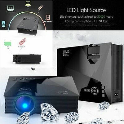 UC46 LED Video Projecteur Projector Wifi 1080P HD Home Theater Pr Apple Android