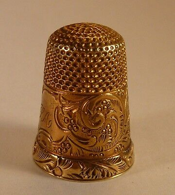 Late Victorian Gold Thimble