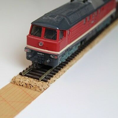 Track ballast 10 running metre Rubberised cork for TT Gauge 28 mm wide - 5 thick