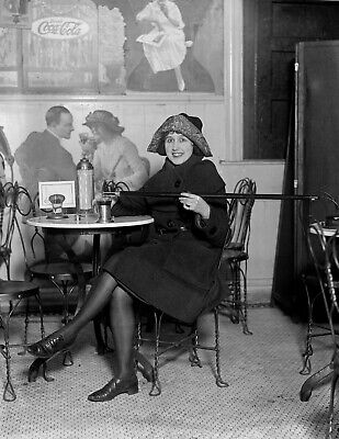 """1922 Prohibition Woman With Cane Flask Vintage Photograph - 8.5"""" x 11"""" Repro"""