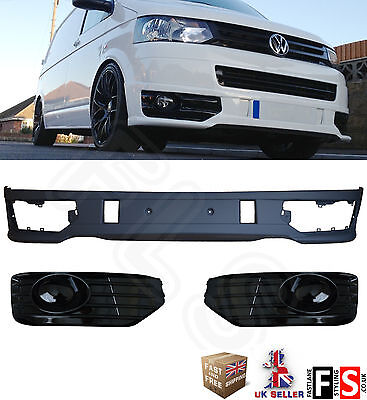 Vw T5 T5.1 Face Lift 2010 Sport Line Type Front Bumper Spoiler Lip 100% Oem Fit