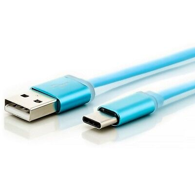 3x USB 3.1 Typ-C Ladekabel 1m Blau - USB-C 5V Daten Kabel Type-C Charging Cable