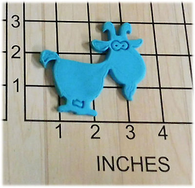 Farm Animal Billy Goat with Eyes Shape Fondant Cookie Cutter and Stamp #1028
